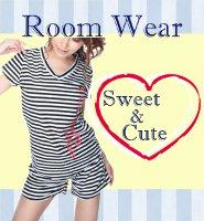 お部屋でも可愛いルームウェア